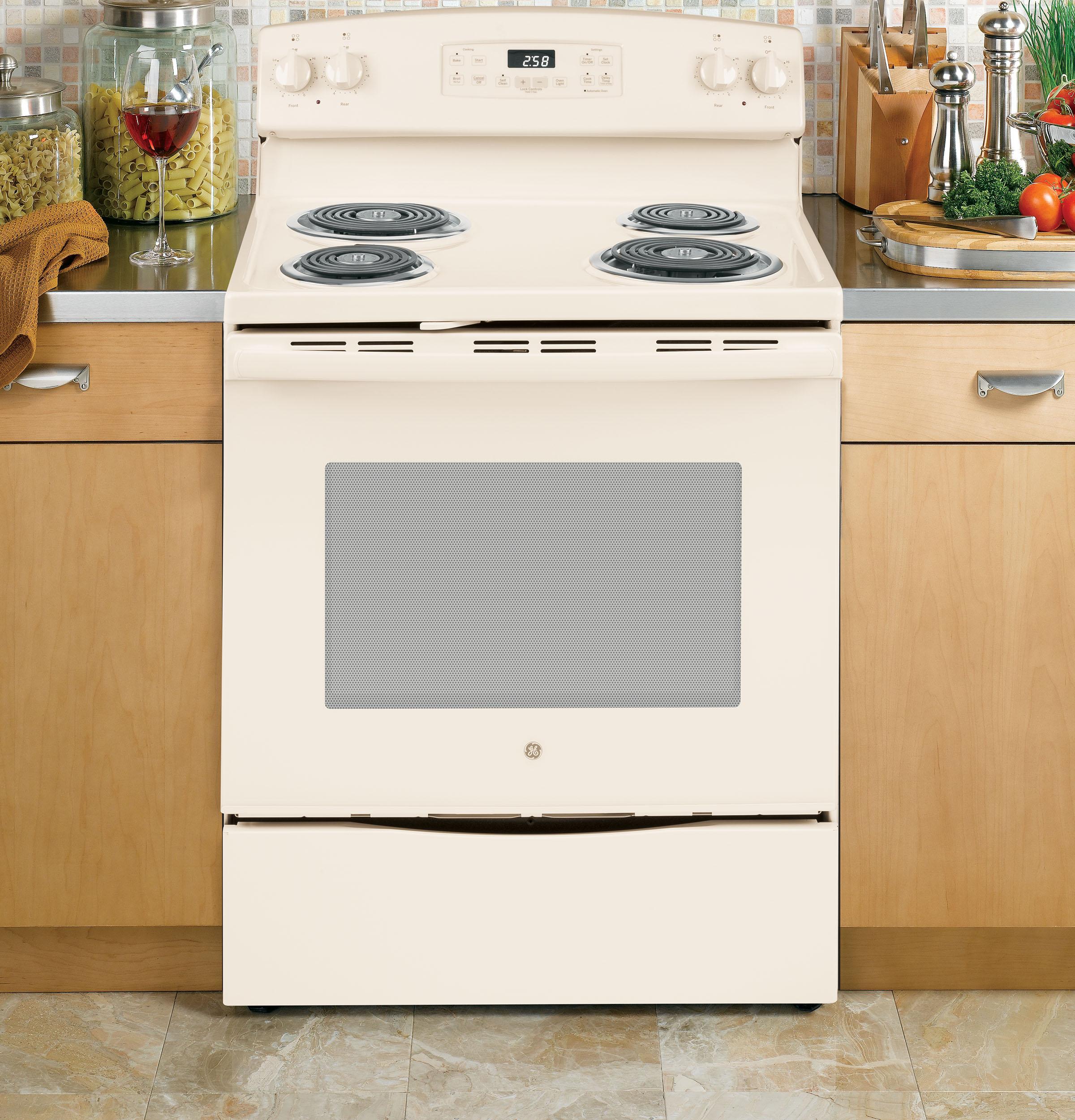 """Model: JB258DMCC   GE GE® 30"""" Free-Standing Self-Clean Electric Range"""