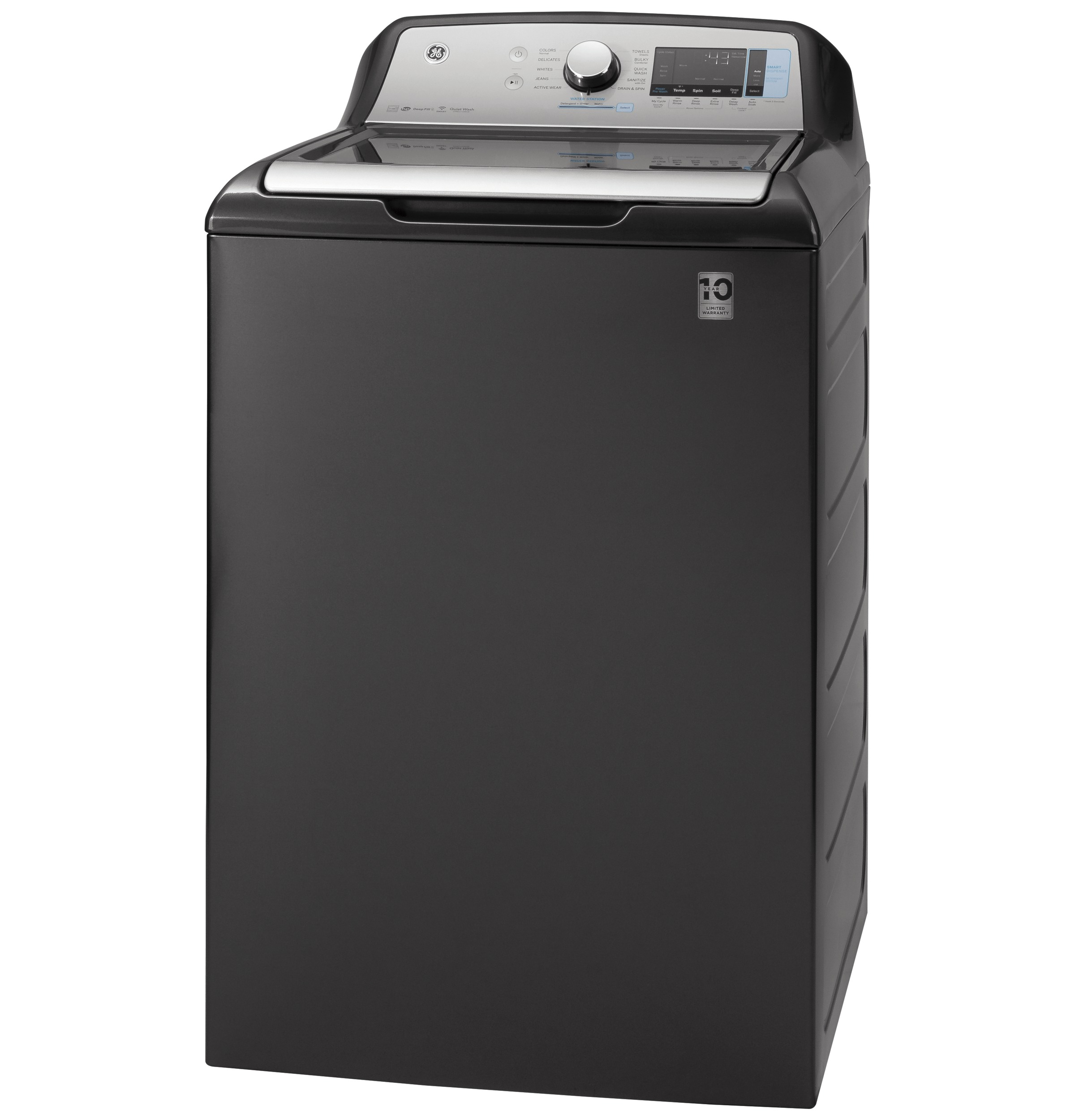 Model: GTW845CPNDG   GE GE® 5.0  cu. ft. Capacity Smart Washer with Sanitize w/Oxi and SmartDispense
