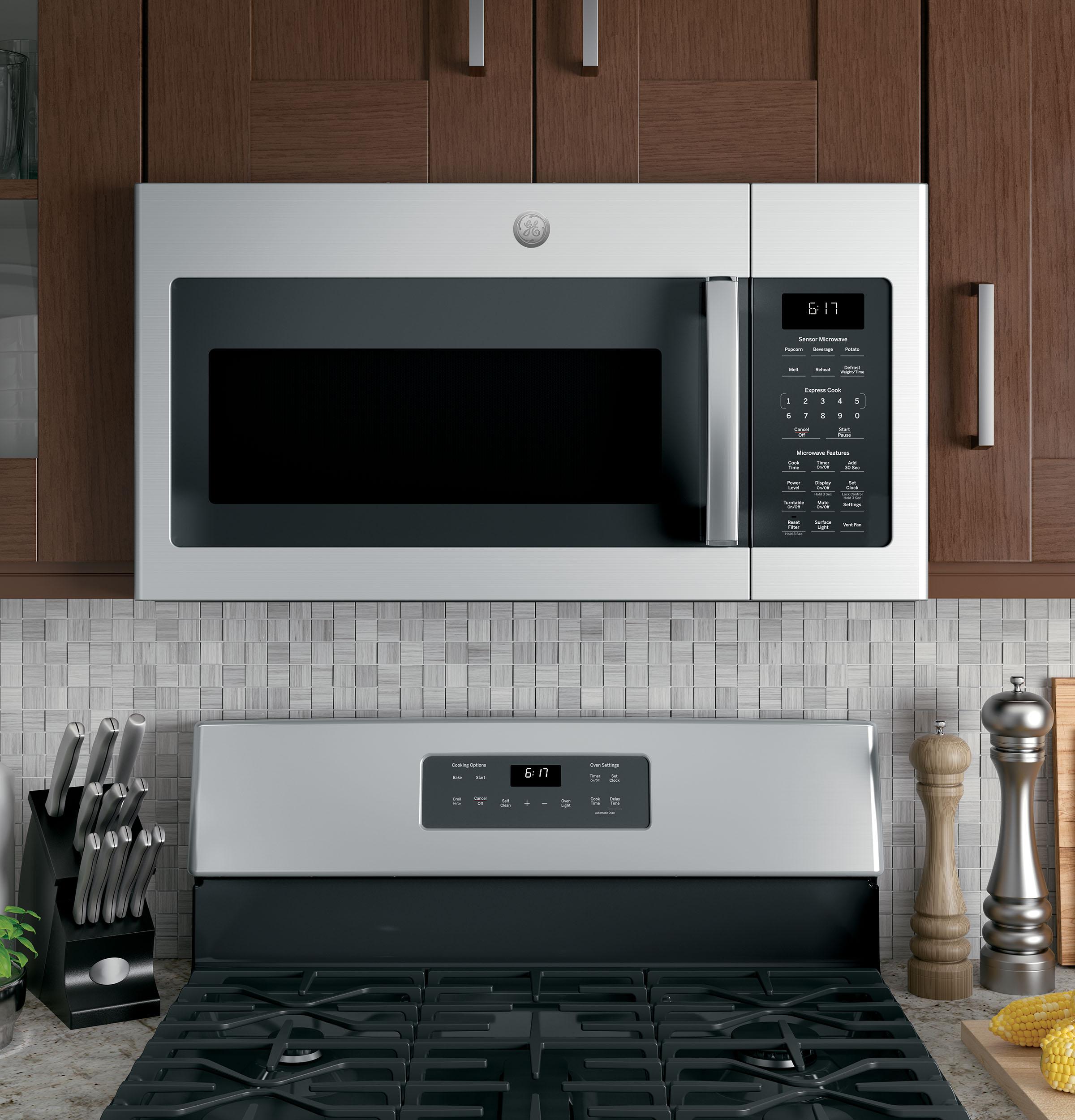 Model: JVM6175SKSS | GE GE® 1.7 Cu. Ft. Over-the-Range Sensor Microwave Oven