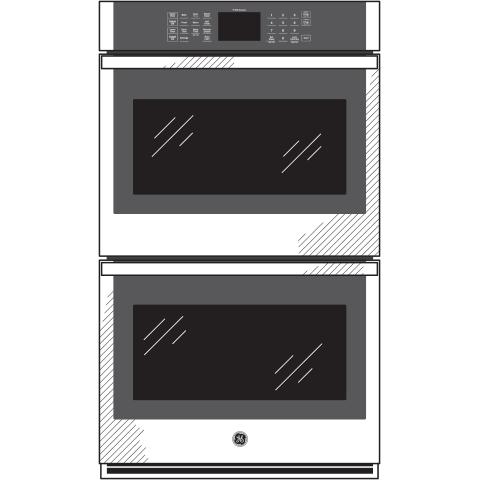 "Model: JKD3000DNBB | GE GE® 27"" Smart Built-In Double Wall Oven"