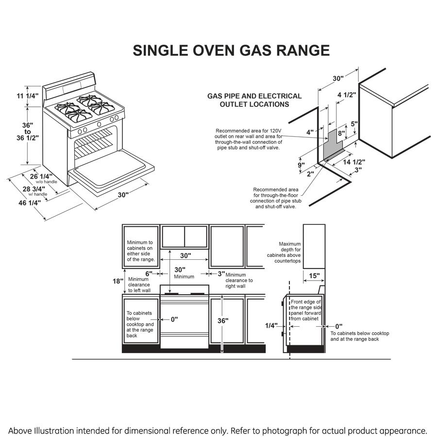 "Model: JGB660SPSS | GE GE® 30"" Free-Standing Gas Range"