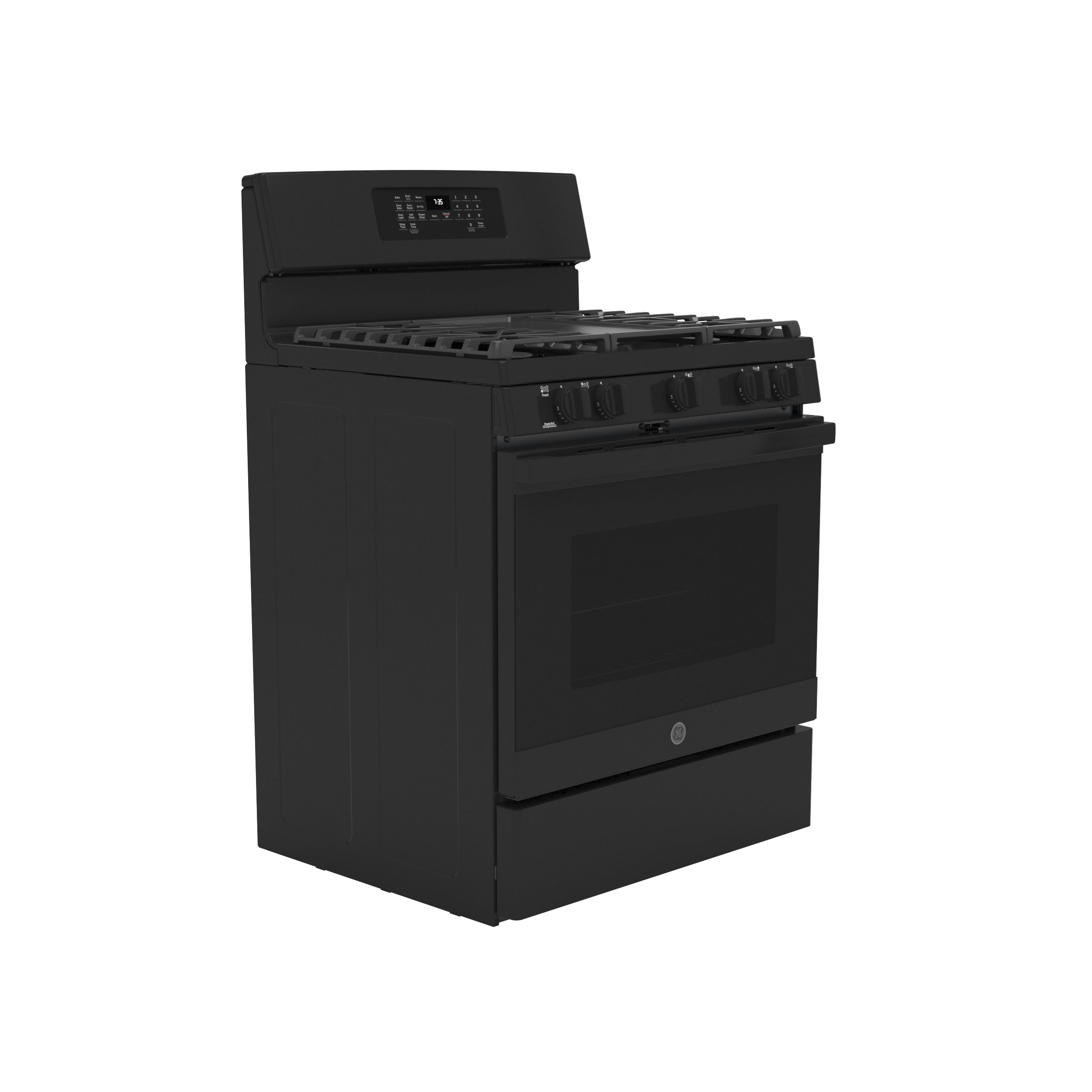 """Model: JGB735DPBB   GE GE® 30"""" Free-Standing Gas Convection Range with No Preheat Air Fry"""