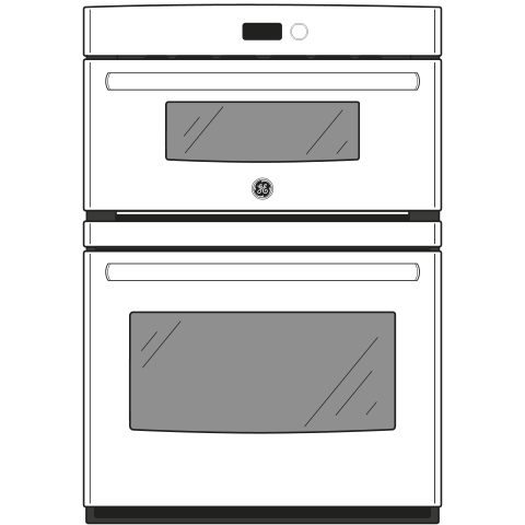 """Model: JT3800DHBB   GE GE® 30"""" Combination Double Wall Oven"""