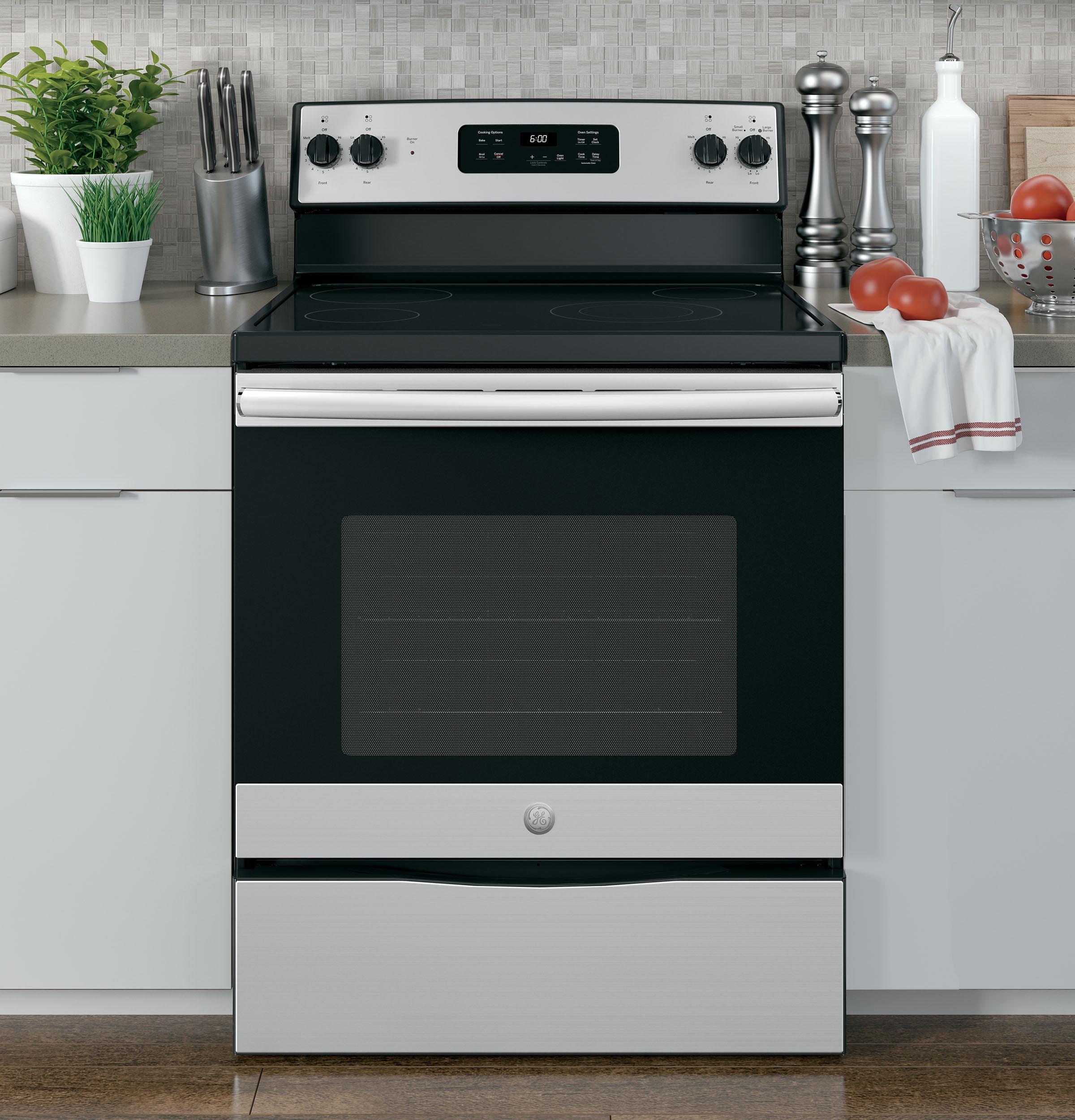 """Model: JBS60RKSS   GE GE® 30"""" Free-Standing Electric Range"""