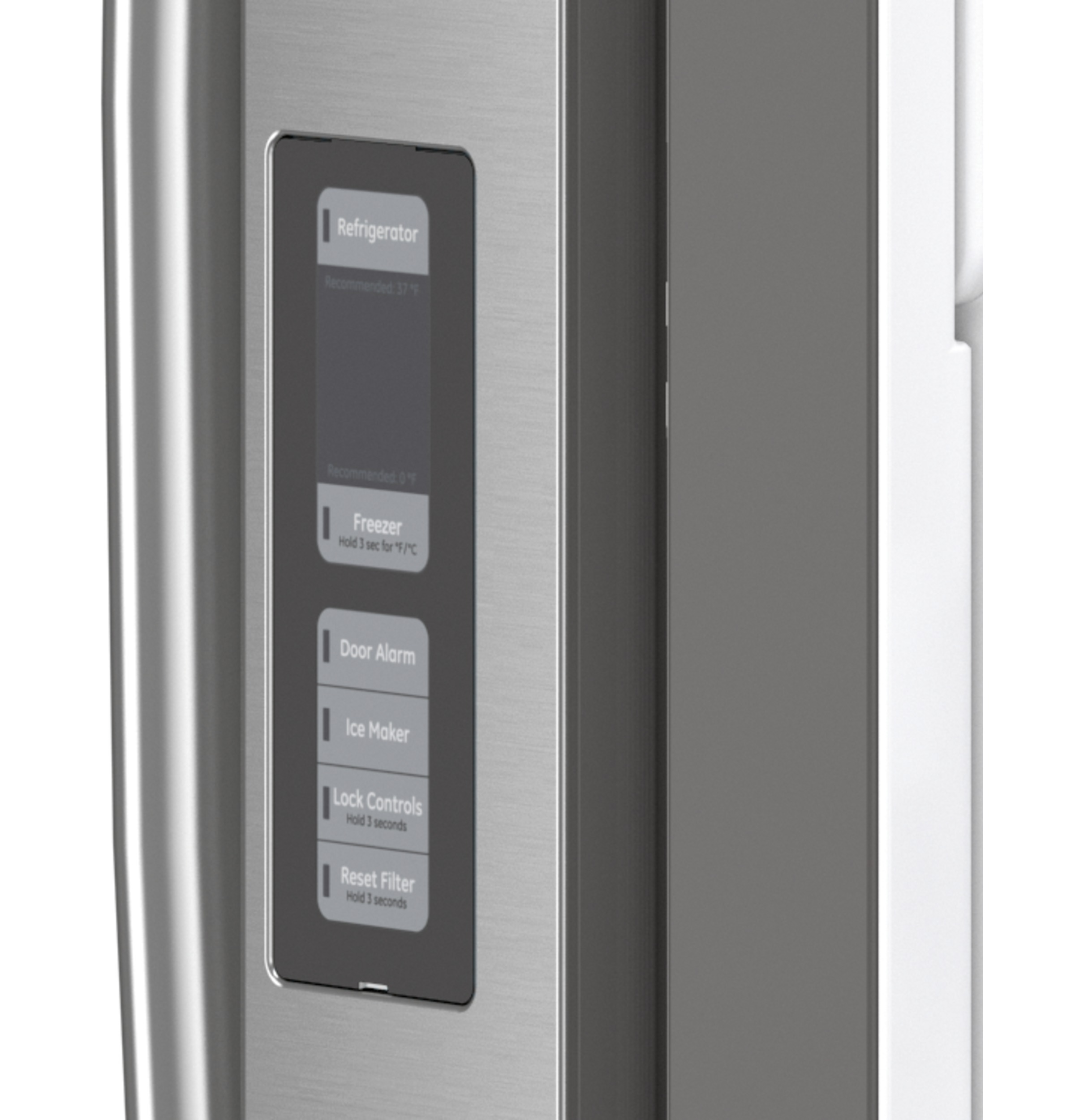 Model: GWE23GYNFS | GE GE® ENERGY STAR® 23.1 Cu. Ft. Counter-Depth Fingerprint Resistant French-Door Refrigerator