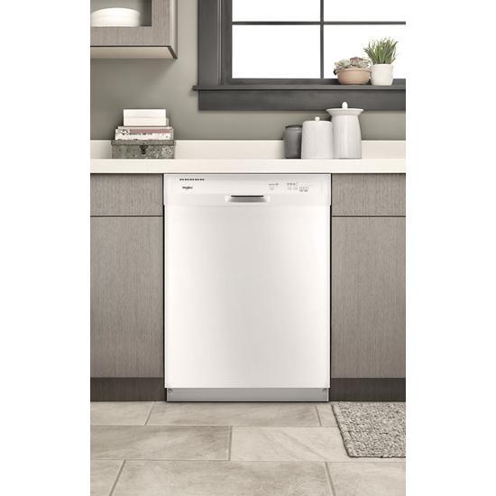 Model: WDF330PAHW | Whirlpool Heavy-Duty Dishwasher with 1-Hour Wash Cycle