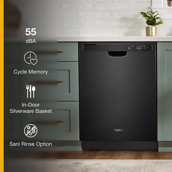 Model: WDF520PADB   Whirlpool ENERGY STAR® certified dishwasher with 1-Hour Wash cycle