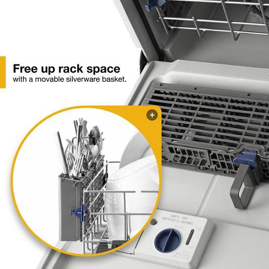 Model: WDF540PADB | Whirlpool ENERGY STAR® certified dishwasher with Sensor cycle