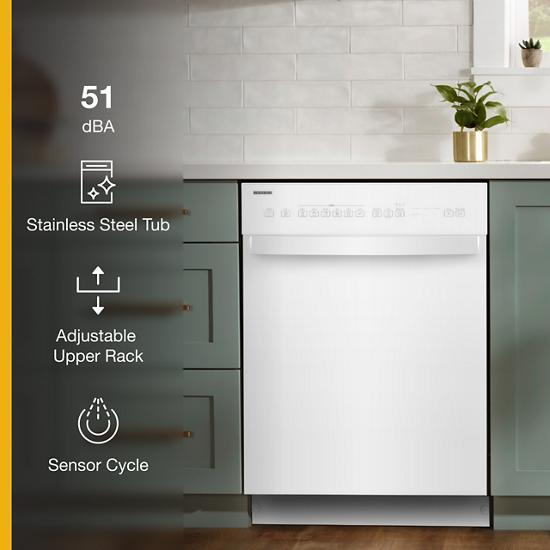 Model: WDF550SAHW | Whirlpool Quiet Dishwasher with Stainless Steel Tub