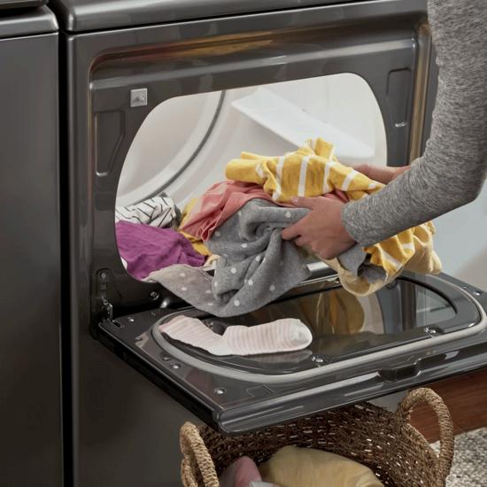 Model: WED5100HC | Whirlpool 7.4 cu. ft. Top Load Electric Dryer with Intuitive Controls