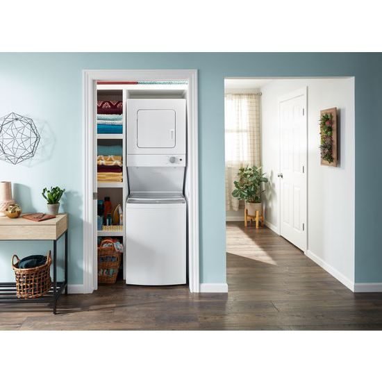 Model: WET4024HW   Whirlpool 1.6 cu.ft Electric Stacked Laundry Center 6 Wash cycles and AutoDry™