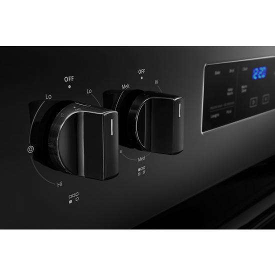 Model: WFE525S0JB | Whirlpool 5.3 cu. ft. Whirlpool® electric range with Frozen Bake™ technology