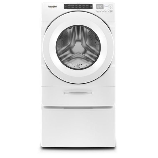 Model: WFW5620HW   Whirlpool 4.5 cu. ft. Closet-Depth Front Load Washer with Load & Go™ Dispenser