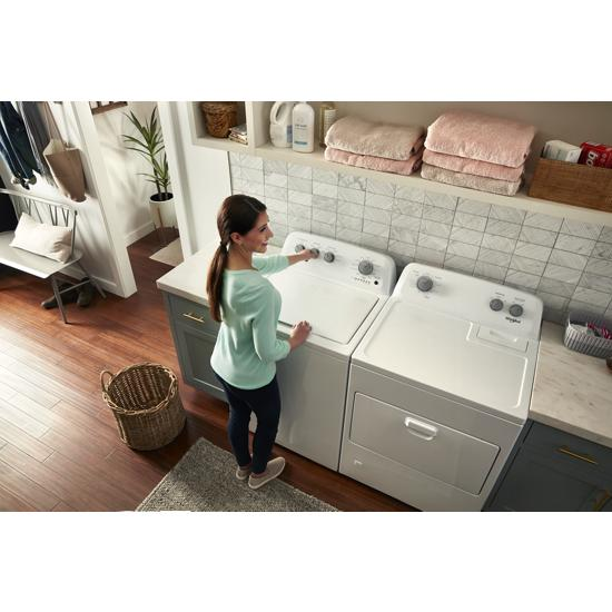 Model: WGD4850HW | Whirlpool 7.0 cu. ft. Top Load Gas Dryer with AutoDry™ Drying System
