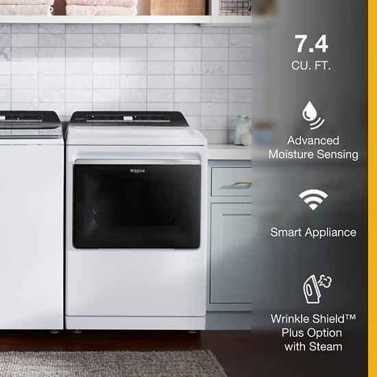 Model: WGD7120HW | Whirlpool 7.4 cu. ft. Smart Top Load Gas Dryer