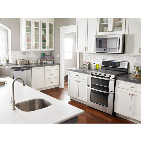 Model: WGG745S0FS | Whirlpool 6.0 Cu. Ft. Gas Double Oven Range with EZ-2-Lift™ Hinged Grates