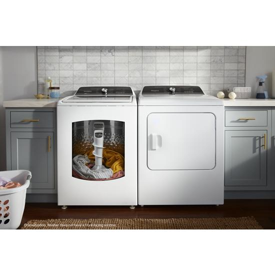 Model: WTW5057LW | Whirlpool 4.7-4.8 Cu. Ft. Capacity Top Load Washer with Removable Agitator