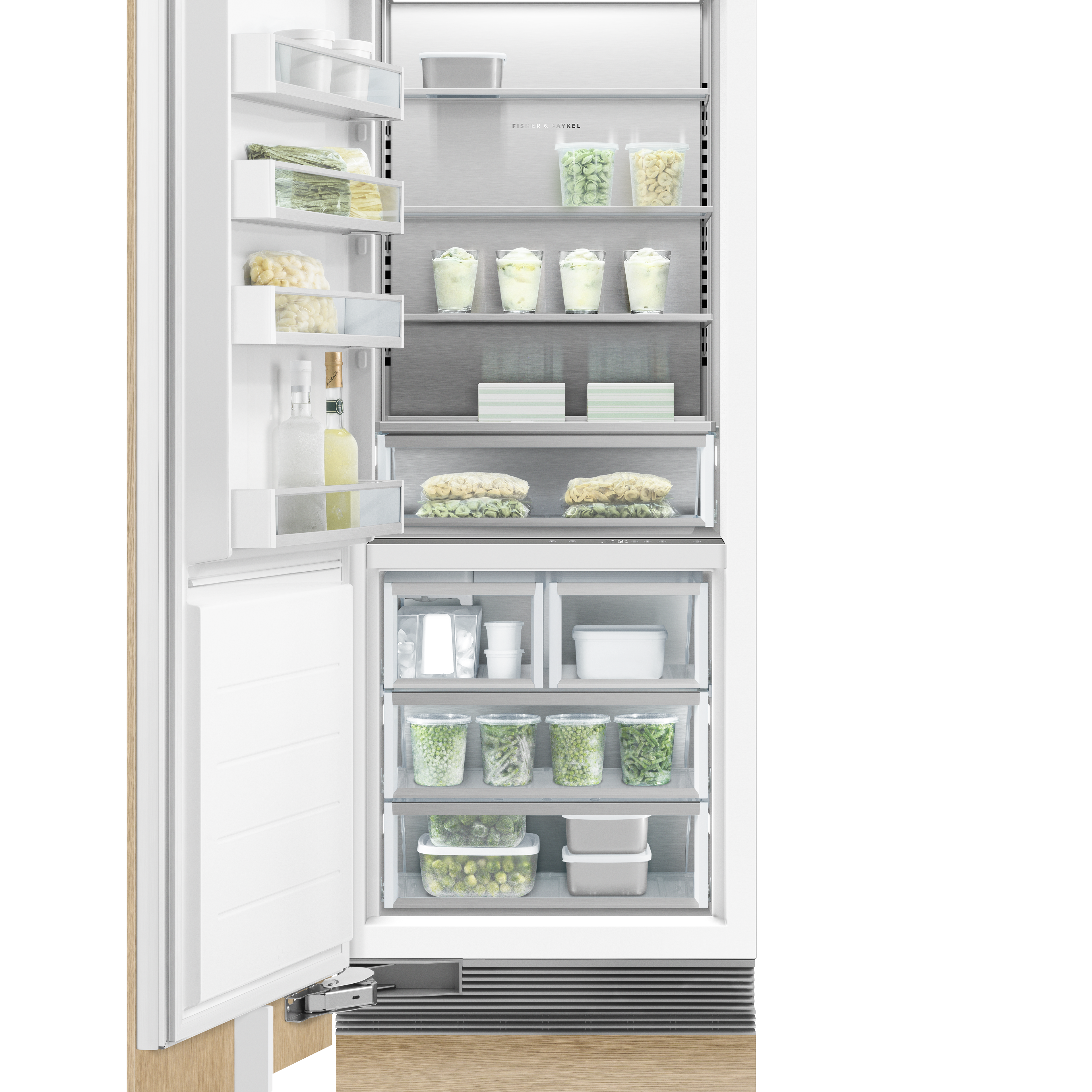 """Fisher and Paykel Integrated Column Freezer, 30"""", Ice"""