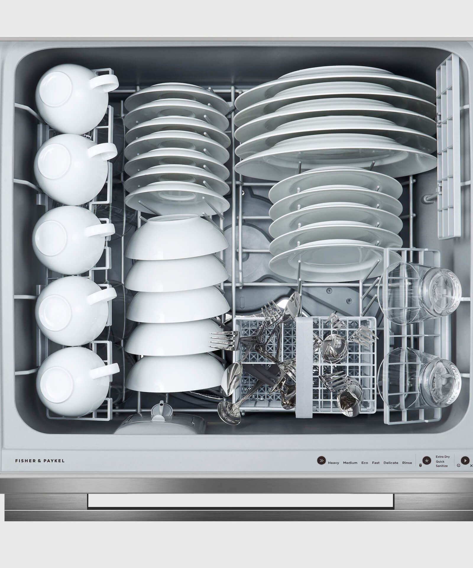 Model: DD24DDFTB9_N   Fisher and Paykel Double DishDrawer™ Dishwasher, Tall, Sanitize