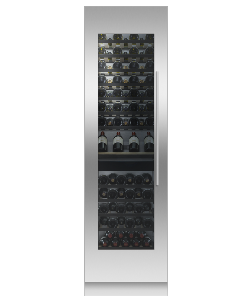 """Model: RS2484VL2K1   Fisher and Paykel Integrated Column Wine Cabinet, 24"""""""