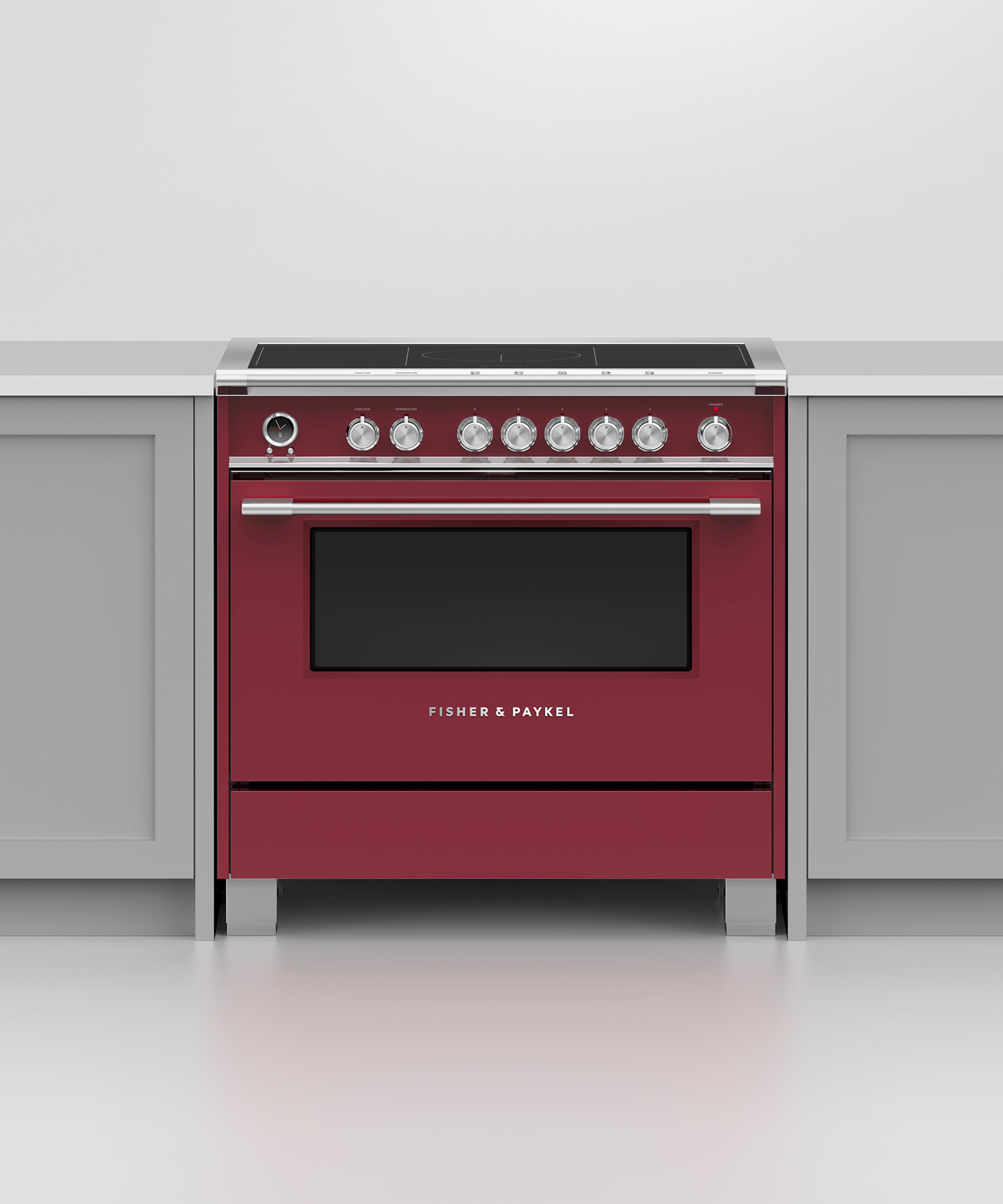 """Model: OR36SCI6R1   Fisher and Paykel Induction Range, 36"""", 5 Zones with SmartZone, Self-cleaning"""