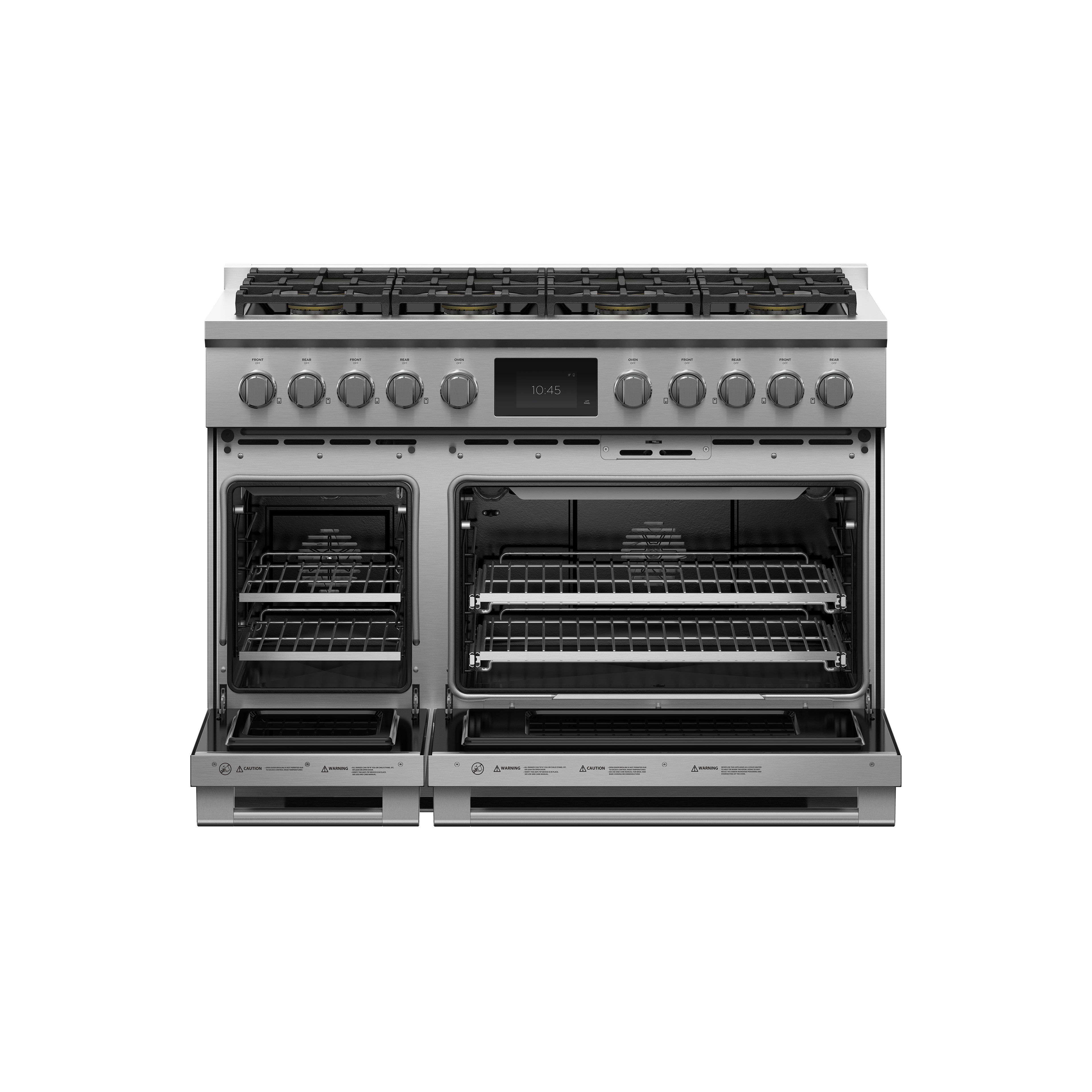 """Fisher and Paykel Dual Fuel Range, 48"""", 8 Burners, Self-cleaning, LPG"""