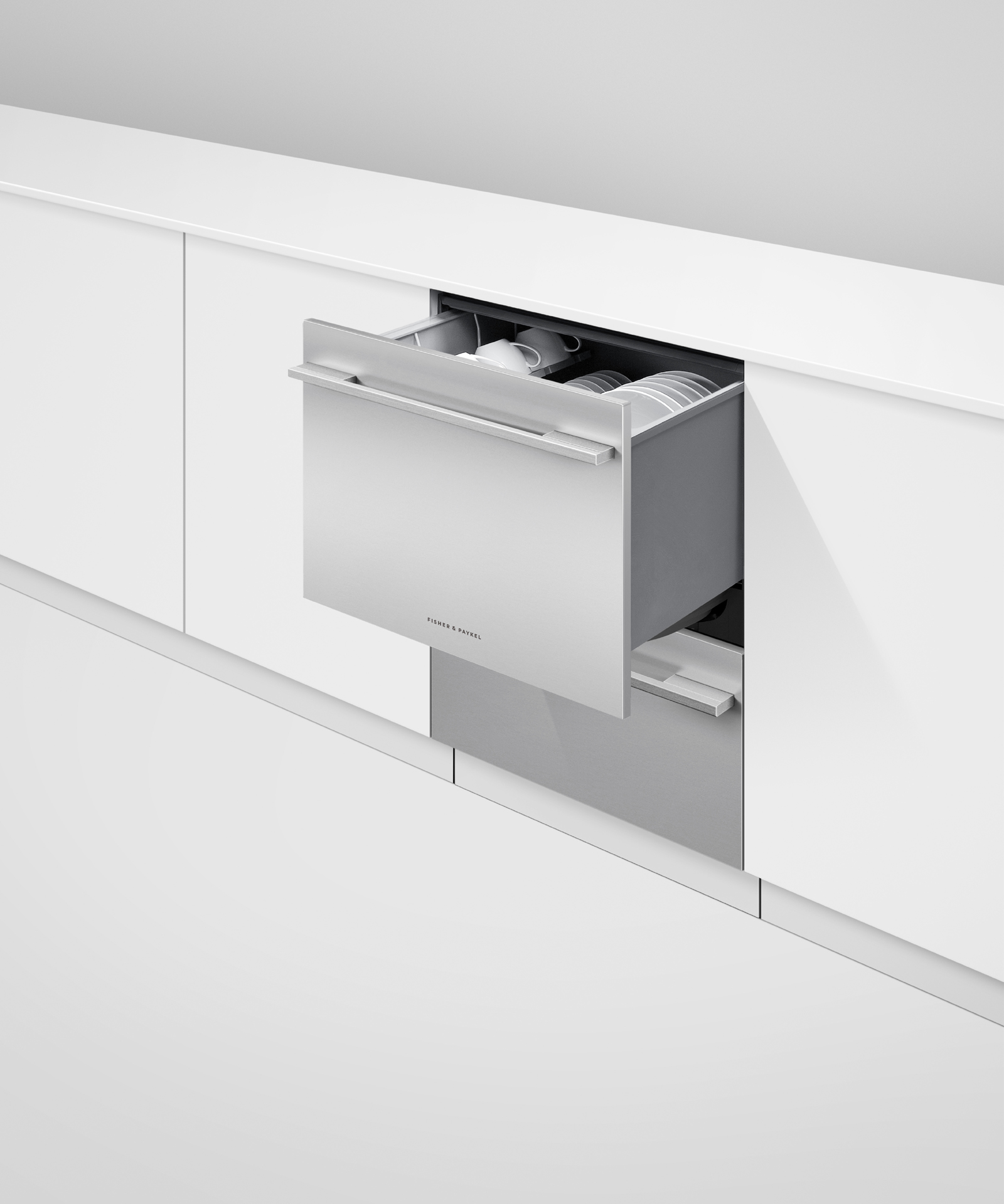 Model: DD24DHTI9 N | Fisher and Paykel Integrated Double DishDrawer™ Dishwasher, Tall, Sanitize