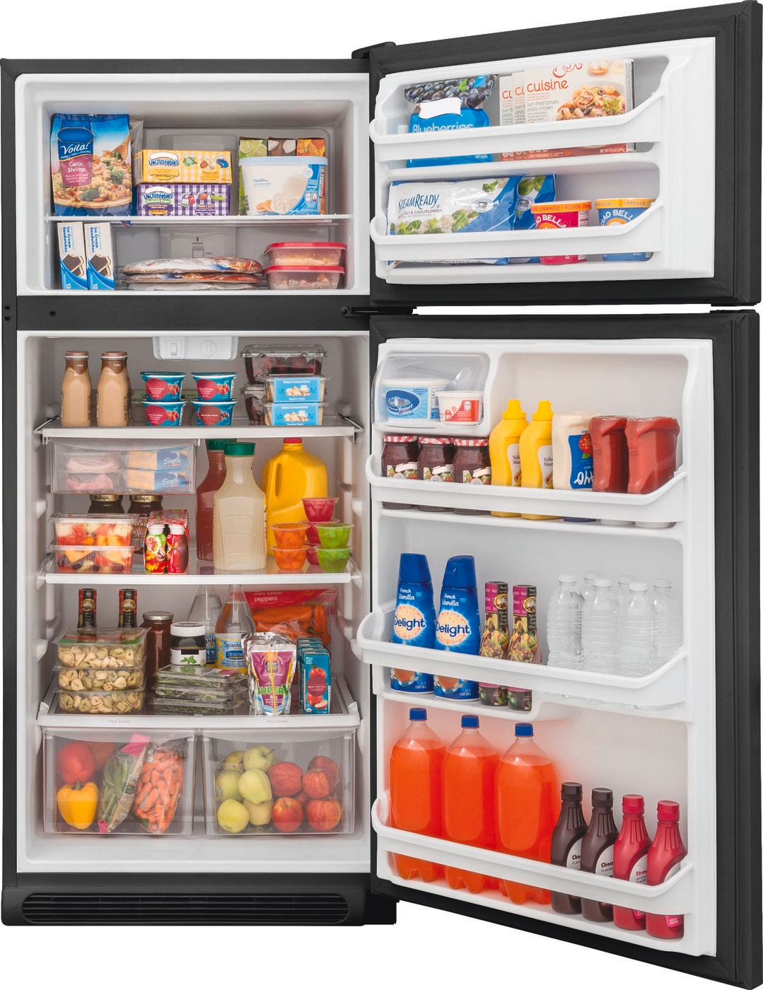 Model: FFTR1821TB   Frigidaire 18 Cu. Ft. Top Freezer Refrigerator