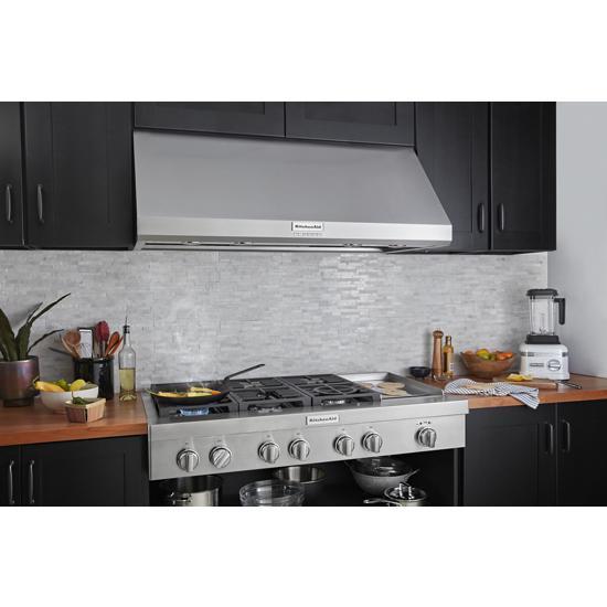 Model: KCGC558JSS | KitchenAid KitchenAid® 48'' 6-Burner Commercial-Style Gas Rangetop with Griddle