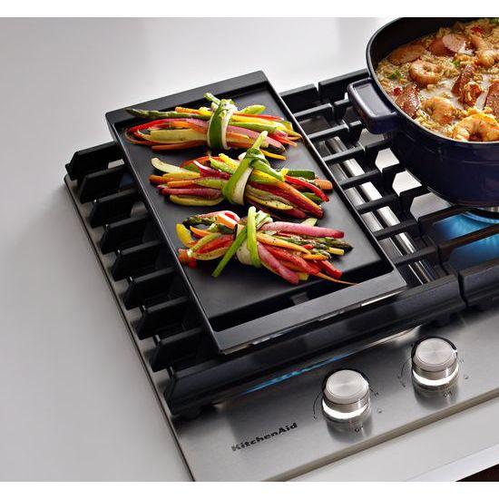 "Model: KCGS950ESS   KitchenAid 30"" 5-Burner Gas Cooktop with Griddle"