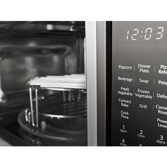 "Model: KMCC5015GBS | KitchenAid 21 3/4"" Countertop Convection Microwave Oven with PrintShield™ Finish - 1000 Watt"