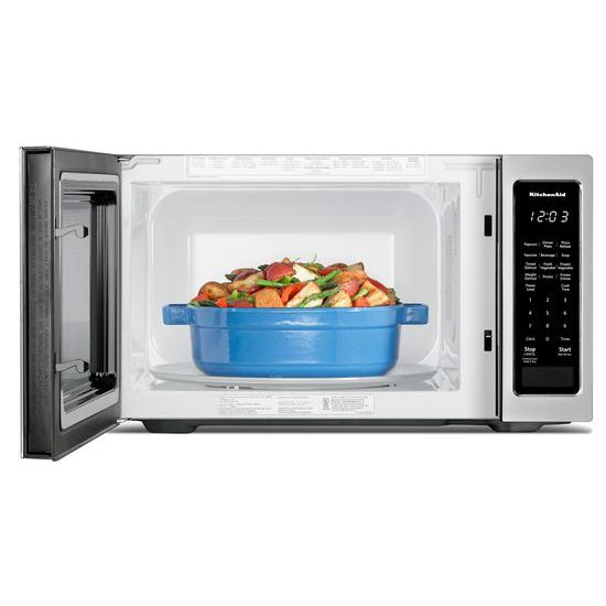 "Model: KMCS1016GSS   KitchenAid 21 3/4"" Countertop Microwave Oven - 1200 Watt"