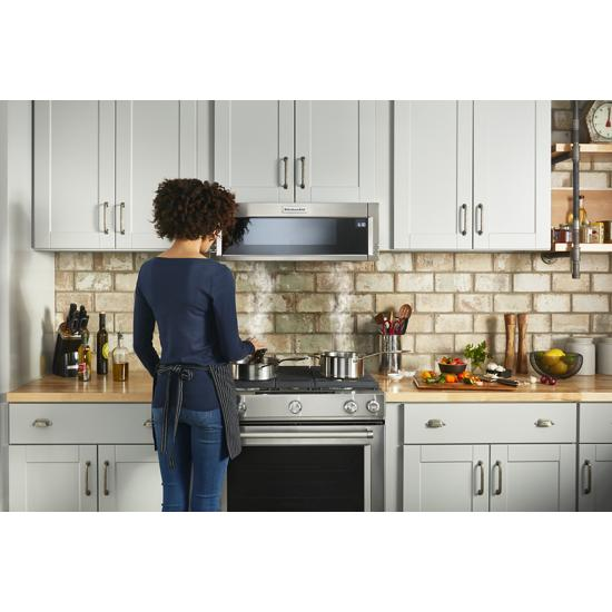 Model: KMLS311HSS | KitchenAid 1000-Watt Low Profile Microwave Hood Combination
