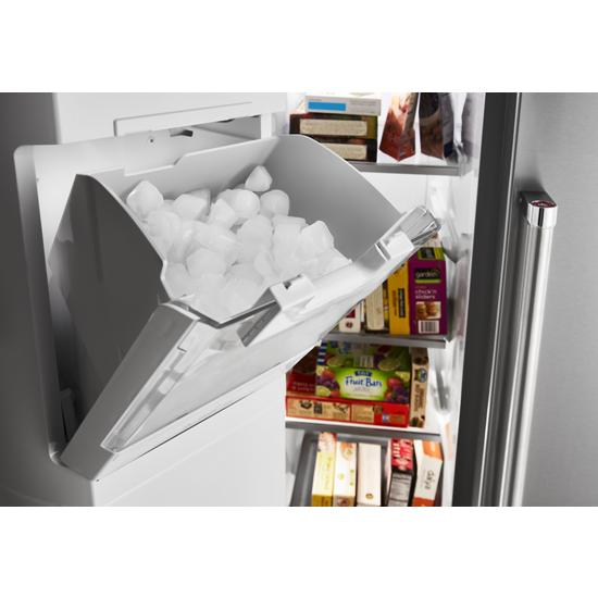 Model: KRSF705HBS | KitchenAid 24.8 cu ft. Side-by-Side Refrigerator with Exterior Ice and Water and PrintShield™ finish