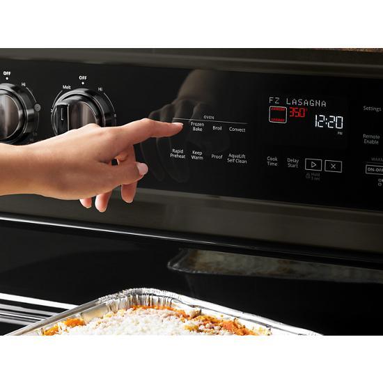 Model: WFE975H0HV | Whirlpool 6.4 cu. ft. Smart Freestanding Electric Range with Frozen Bake™ Technology