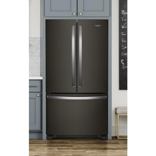 Model: WRF535SWHV   Whirlpool 36-inch Wide French Door Refrigerator with Water Dispenser - 25 cu. ft.