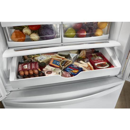Model: WRF535SWHW | Whirlpool 36-inch Wide French Door Refrigerator with Water Dispenser - 25 cu. ft.