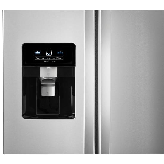Model: WRS321SDHZ | Whirlpool 33-inch Wide Side-by-Side Refrigerator - 21 cu. ft.