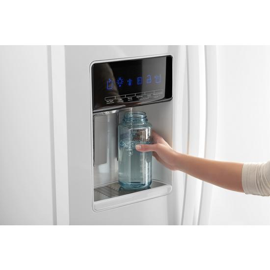 Model: WRS588FIHW   Whirlpool 36-inch Wide Side-by-Side Refrigerator - 28 cu. ft.