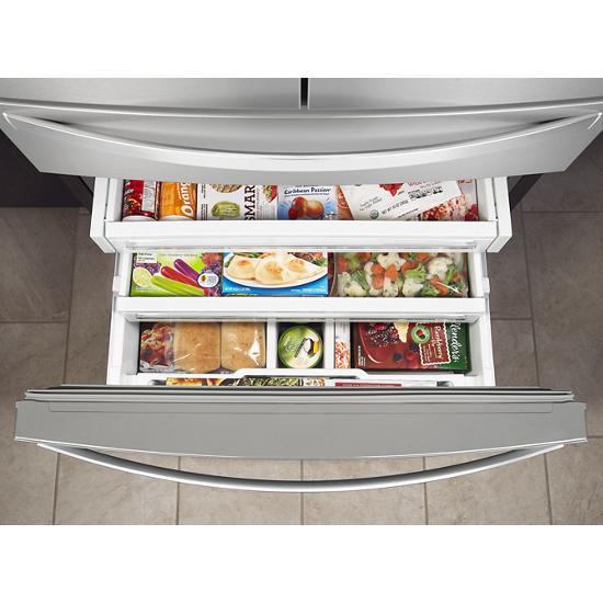 Model: WRX986SIHZ | Whirlpool 36-inch Wide 4-Door Refrigerator with Exterior Drawer - 26 cu. ft.