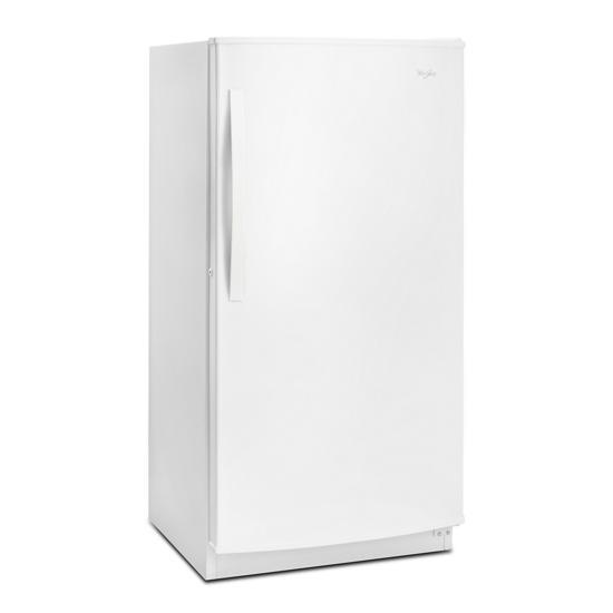 Model: WZF56R16DW | Whirlpool 16 cu. ft. Upright Freezer with Frost-Free Defrost