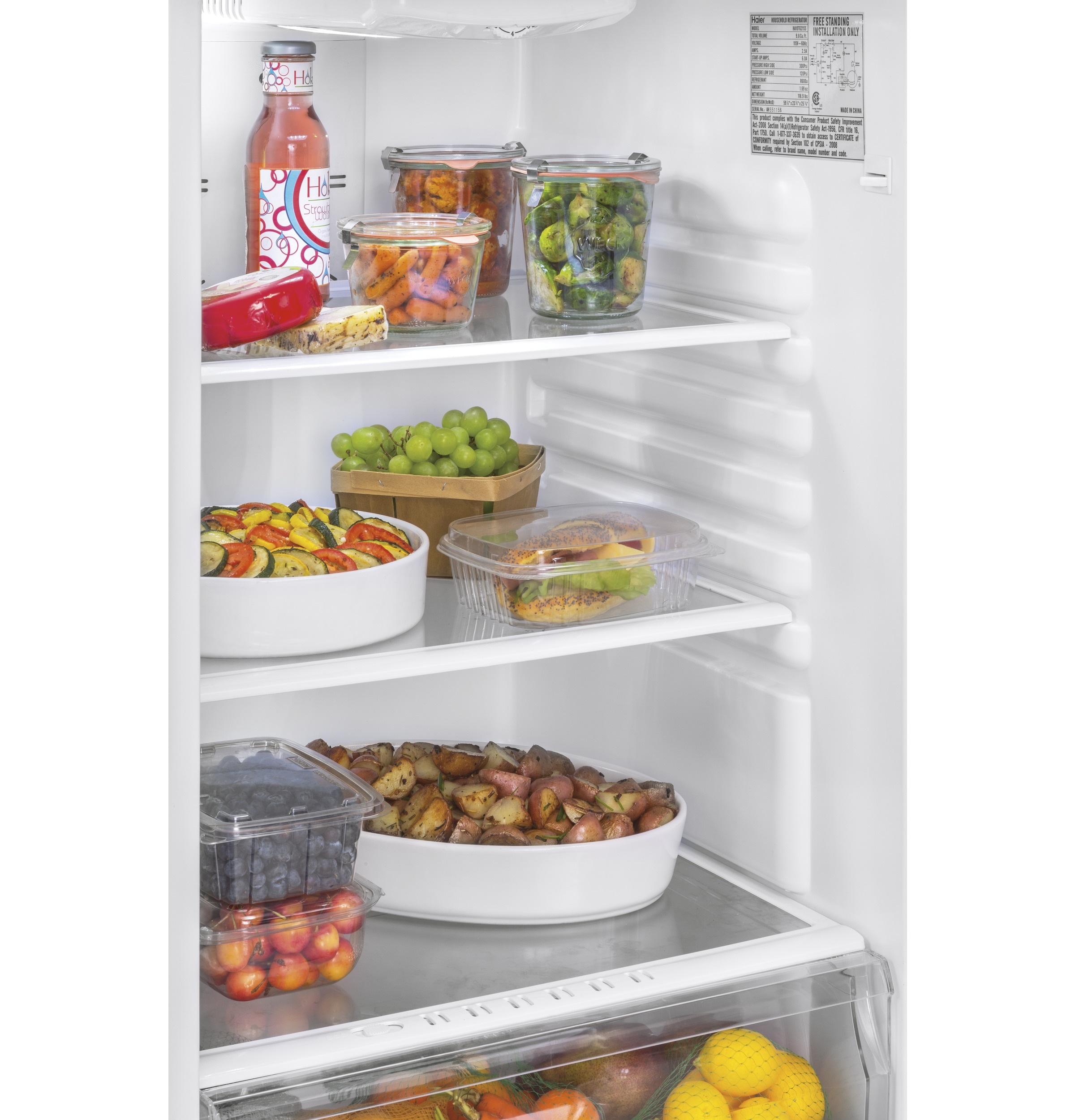 Model: HA10TG21SS   Haier 9.8 Cu. Ft. Top Freezer Refrigerator
