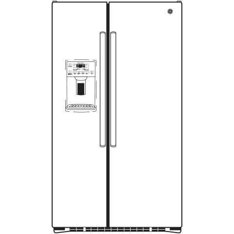 Model: GZS22DGJWW | GE GE® 21.9 Cu. Ft. Counter-Depth Side-By-Side Refrigerator