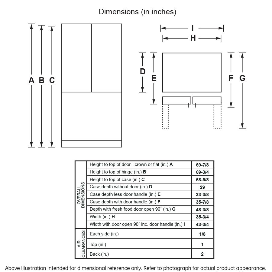 Model: GFE26JGMBB | GE GE® ENERGY STAR® 25.6 Cu. Ft. French-Door Refrigerator
