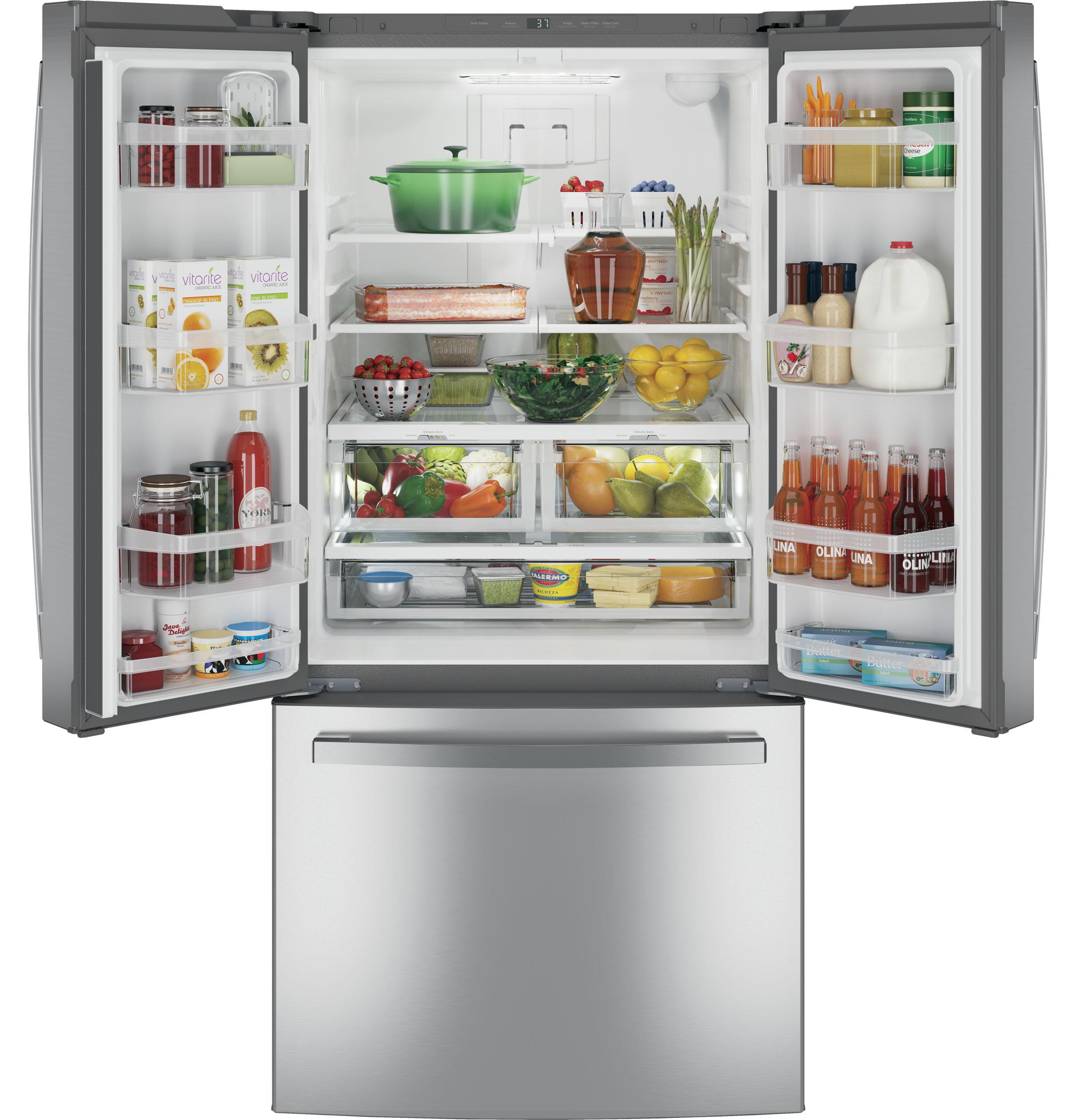 Model: GNE25JSKSS   GE GE® ENERGY STAR® 24.7 Cu. Ft. French-Door Refrigerator