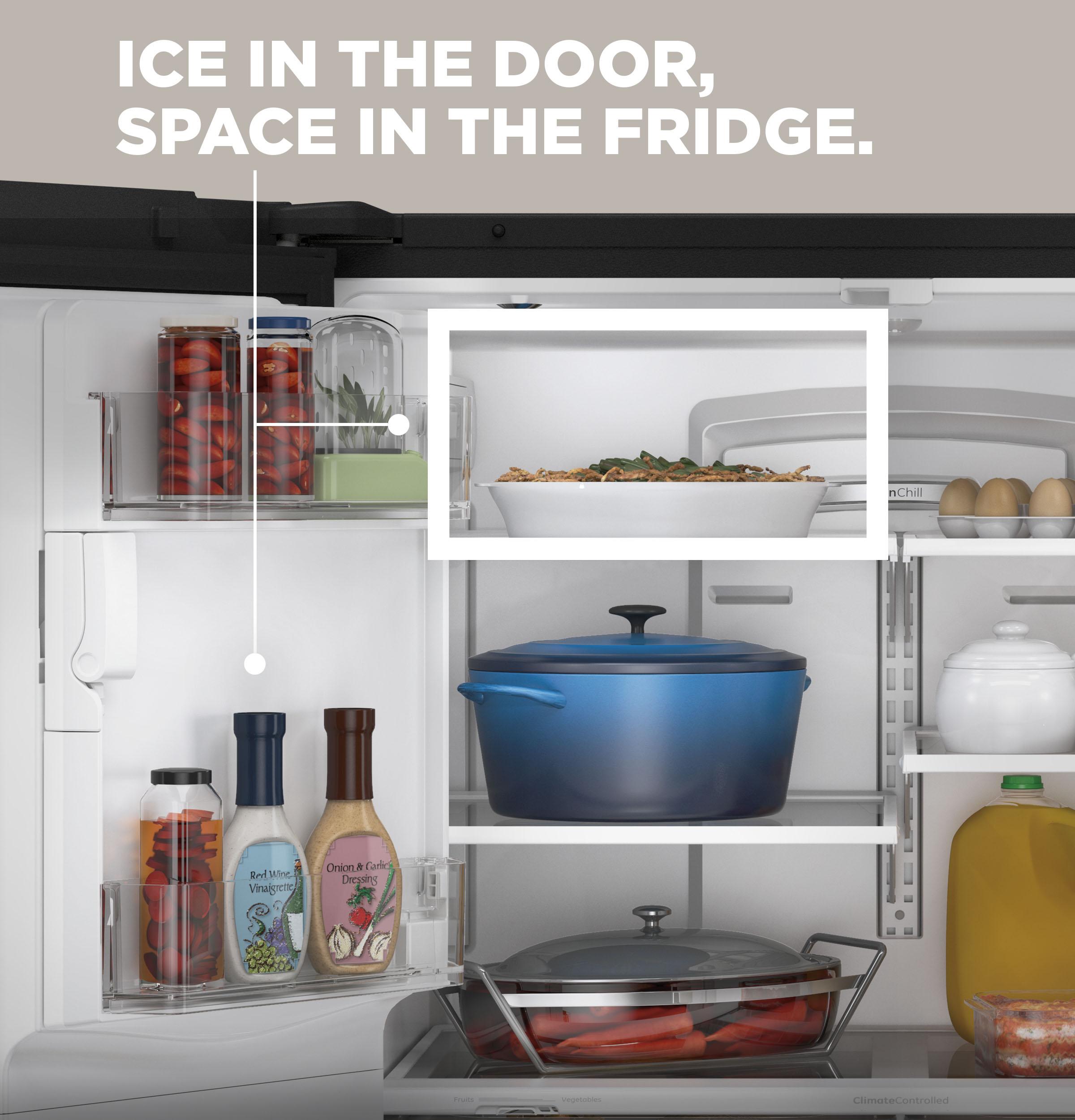 Model: GYE18JMLES | GE GE® ENERGY STAR® 17.5 Cu. Ft. Counter-Depth French-Door Refrigerator