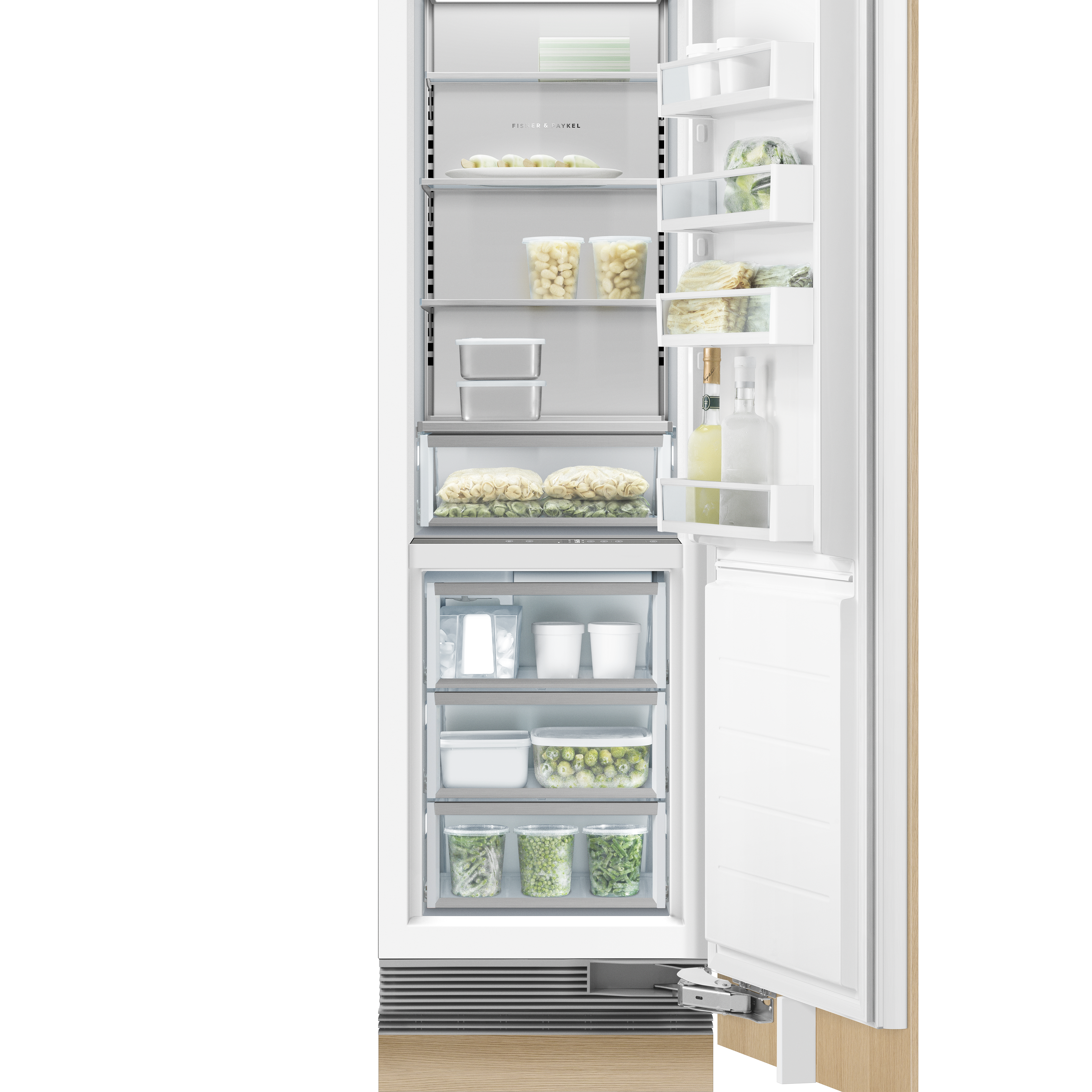 """Fisher and Paykel Integrated Column Refrigerator, 24"""", Ice"""