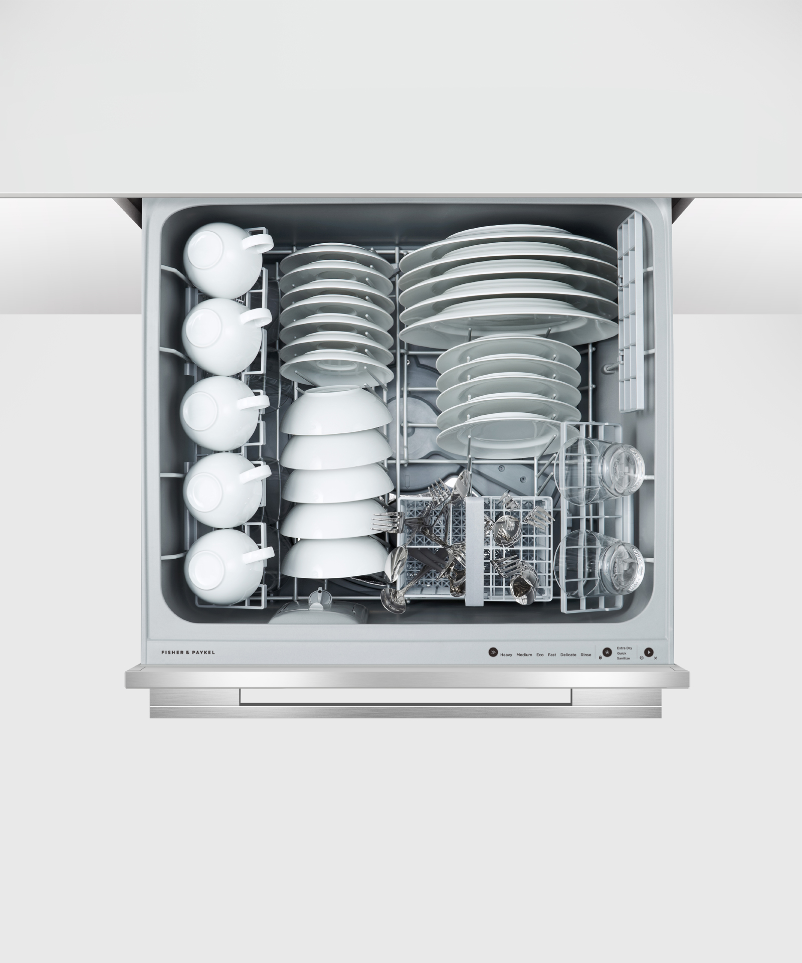 Model: DD24DDFTX9 N | Fisher and Paykel Double DishDrawer™ Dishwasher, Tall, Sanitize