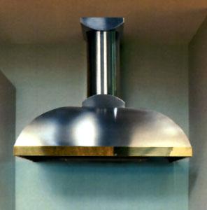 This wall mounted range hood creates a