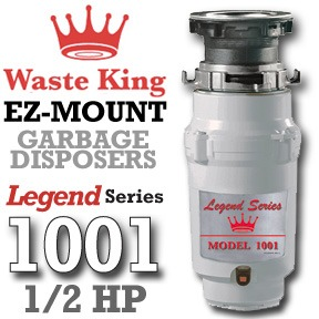 Waste King Garbage Disposal - 1001 Half HP Legend Series Garbage Disposer